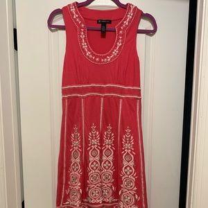INC. pink, beaded dress